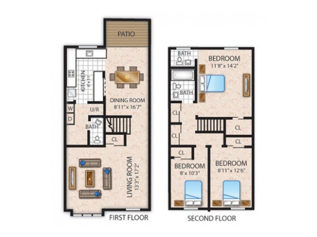 3 Bedrooms 1 Bathroom Apartment for rent at The Bradford in Leola, PA
