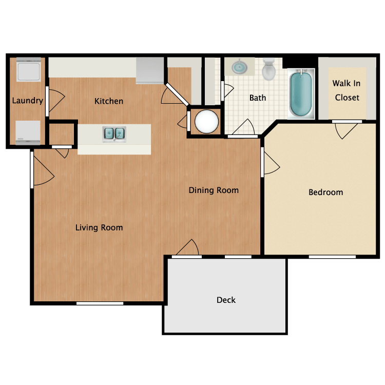1 Bedroom 1 Bathroom Apartment for rent at Bloom Apartments in Bloomington, IN
