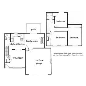 3 Bedrooms 2 Bathrooms House for rent at Parkwood Duplex Homes in Madison, WI