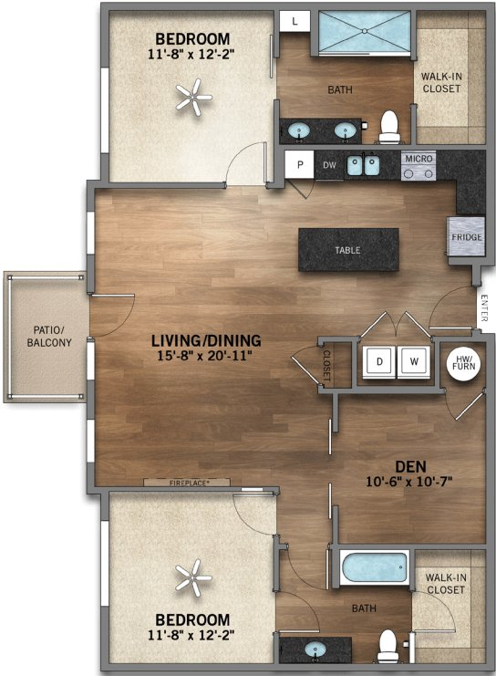 2 Bedrooms 2 Bathrooms Apartment for rent at Highland Station in Louisville, KY