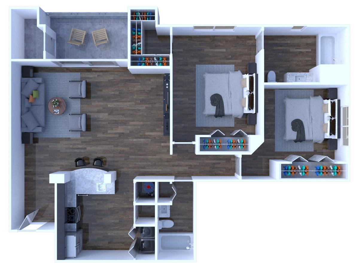 2 Bedrooms 2 Bathrooms Apartment for rent at Arbors At Carrollwood in Tampa, FL