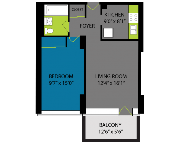 1 Bedroom 1 Bathroom Apartment for rent at Lake Meadows in Chicago, IL