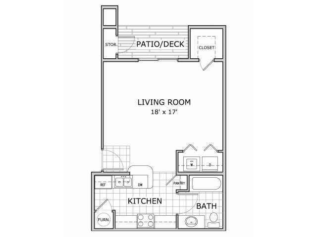 Studio 1 Bathroom Apartment for rent at Palm Village in Springfield, MO