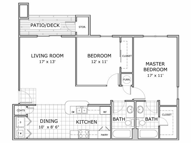 2 Bedrooms 2 Bathrooms Apartment for rent at Palm Village in Springfield, MO