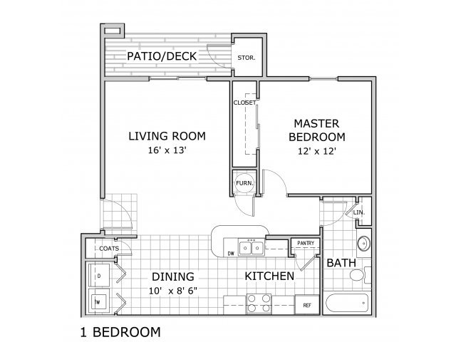 1 Bedroom 1 Bathroom Apartment for rent at Battlefield Park Apartments in Springfield, MO