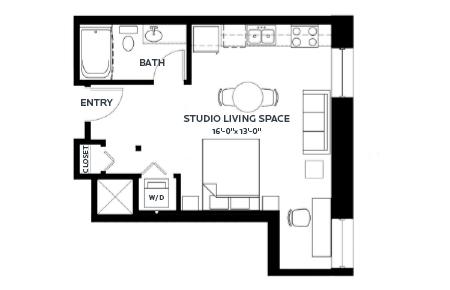 Studio 1 Bathroom Apartment for rent at C & E Lofts in Minneapolis, MN