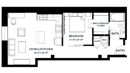 1 Bedroom 1 Bathroom Apartment for rent at C & E Lofts in Minneapolis, MN