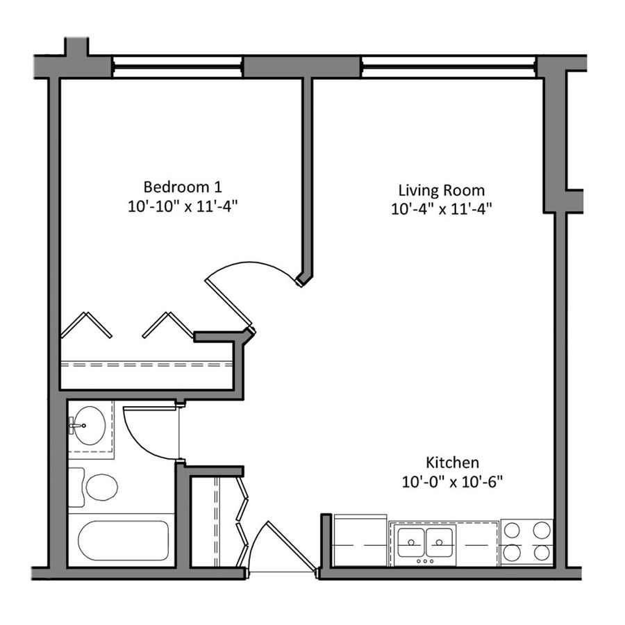 1 Bedroom 1 Bathroom Apartment for rent at The Den in Minneapolis, MN