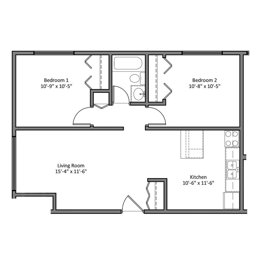 2 Bedrooms 1 Bathroom Apartment for rent at The Den in Minneapolis, MN