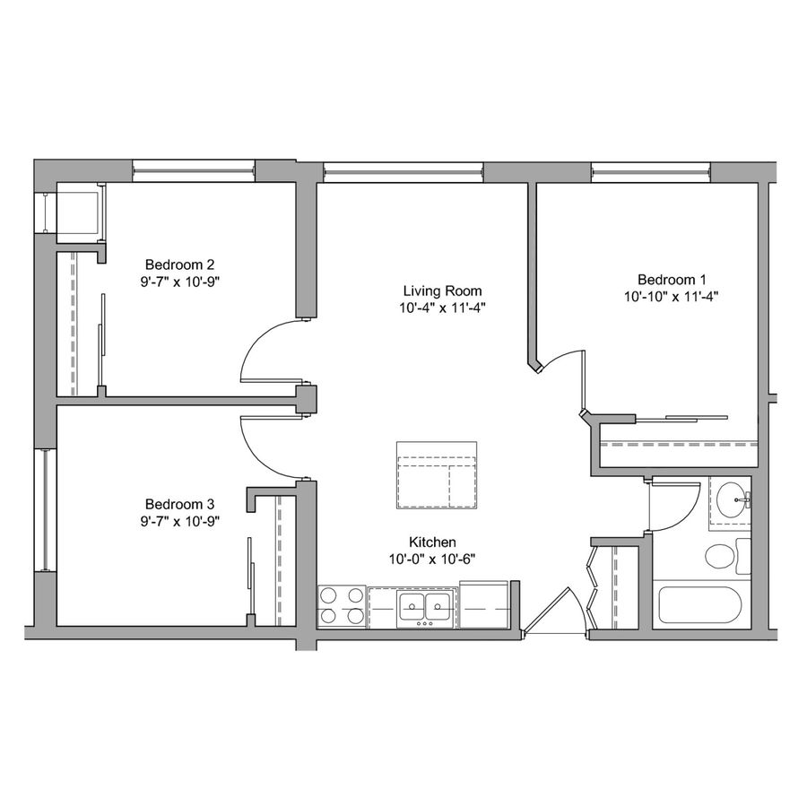 3 Bedrooms 1 Bathroom Apartment for rent at The Denn in Minneapolis, MN