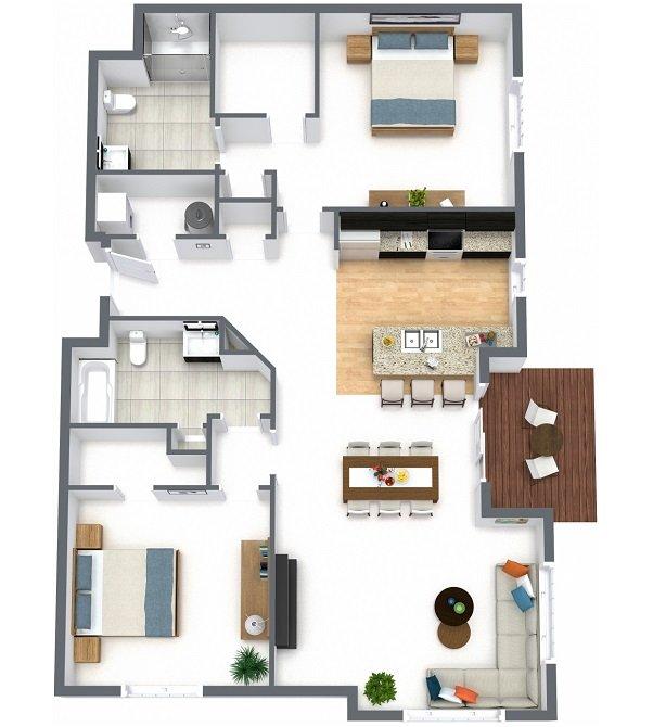 2 Bedrooms 2 Bathrooms Apartment for rent at Desales Flats Apartments in Cincinnati, OH