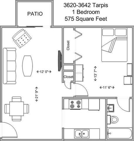 1 Bedroom 1 Bathroom Apartment for rent at Tarpis Woods in Cincinnati, OH