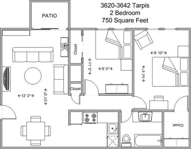 2 Bedrooms 1 Bathroom Apartment for rent at Tarpis Woods in Cincinnati, OH