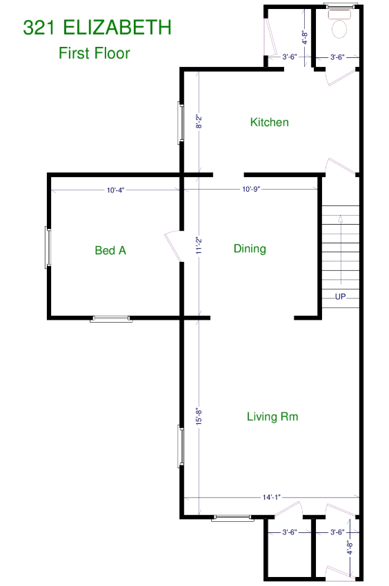 3 Bedrooms 2 Bathrooms Apartment for rent at 321 Elizabeth St in East Lansing, MI
