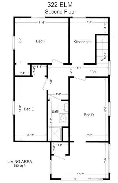 6 Bedrooms 2 Bathrooms House for rent at 322 Elm Pl in East Lansing, MI