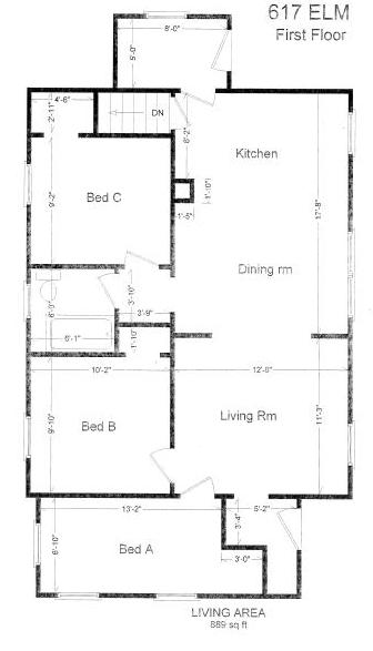 3 Bedrooms 1 Bathroom House for rent at 617 Elm St in East Lansing, MI