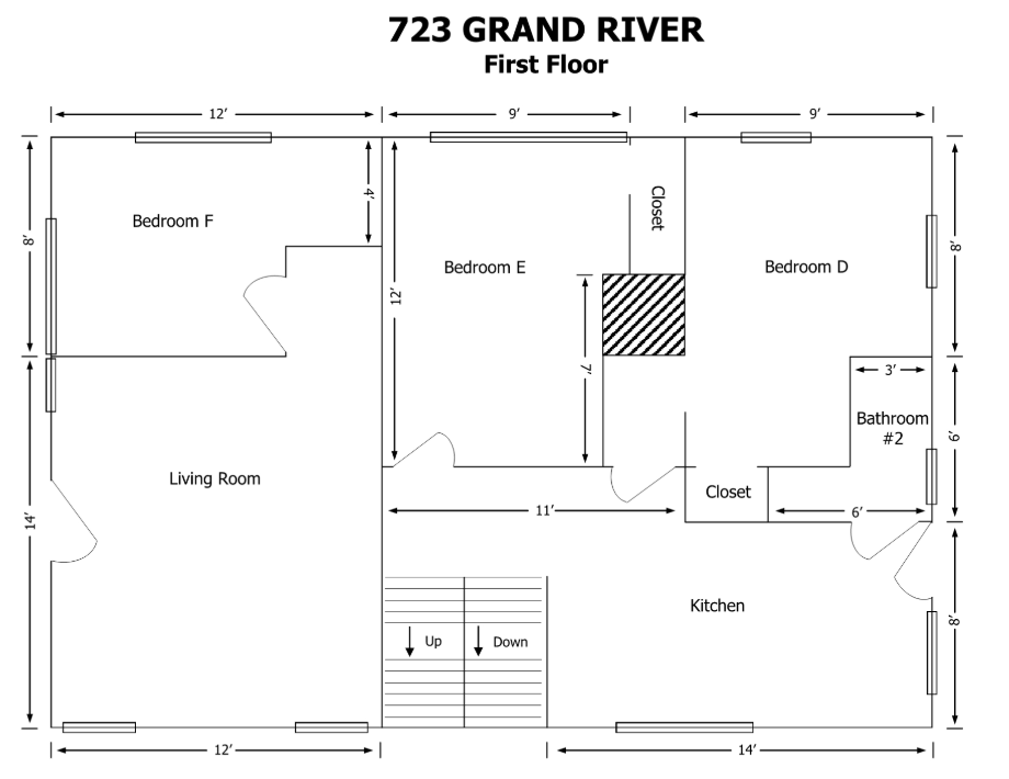 8+ Bedrooms 3 Bathrooms House for rent at 723 W Grand River in East Lansing, MI