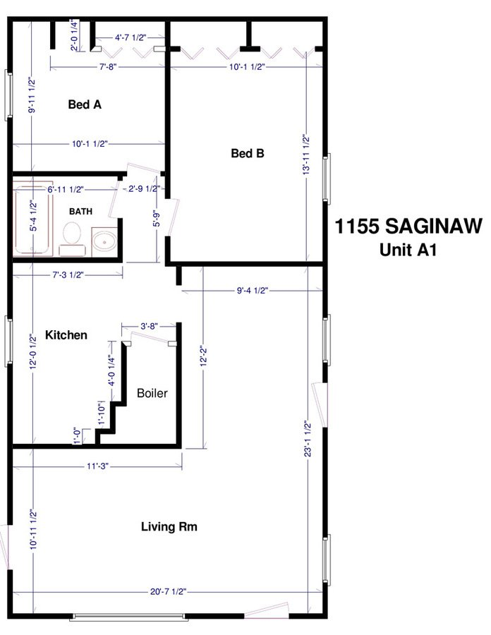 2 Bedrooms 2 Bathrooms House for rent at 1155 E. Saginaw in East Lansing, MI