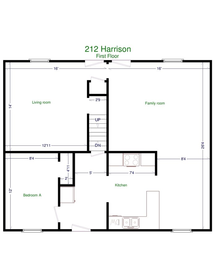5 Bedrooms 1 Bathroom Apartment for rent at 210 N. Harrison Rd in East Lansing, MI