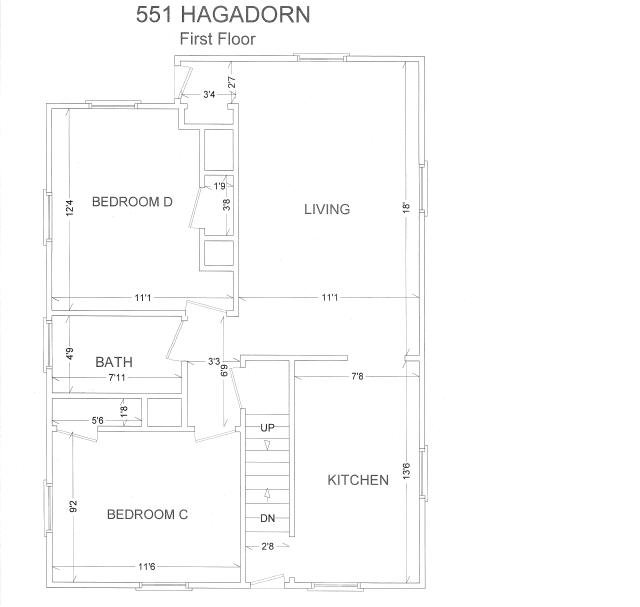 4 Bedrooms 1 Bathroom House for rent at 551 N Hagadron Rd in East Lansing, MI