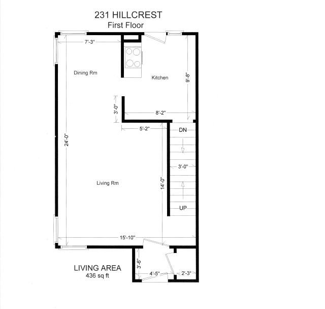 3 Bedrooms 1 Bathroom Apartment for rent at 231 Hillcrest in East Lansing, MI