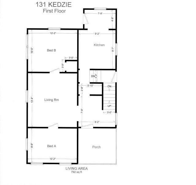 5 Bedrooms 2 Bathrooms House for rent at 131 Kedzie St. in East Lansing, MI