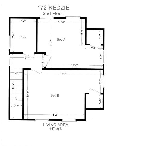 2 Bedrooms 1 Bathroom House for rent at 172 Kedzie St. in East Lansing, MI