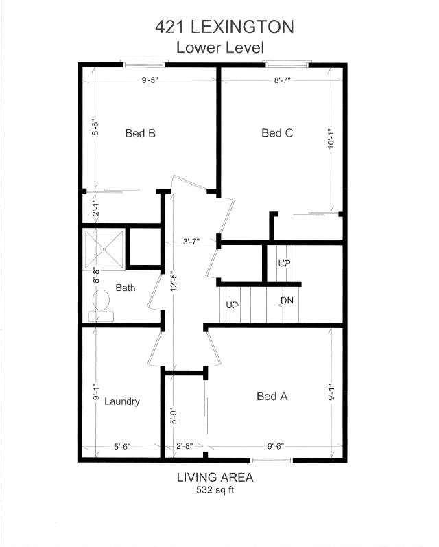 3 Bedrooms 2 Bathrooms Apartment for rent at 421 Lexington Ave in East Lansing, MI