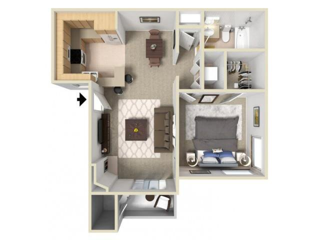 1 Bedroom 1 Bathroom Apartment for rent at Autumn Ridge in Citrus Heights, CA