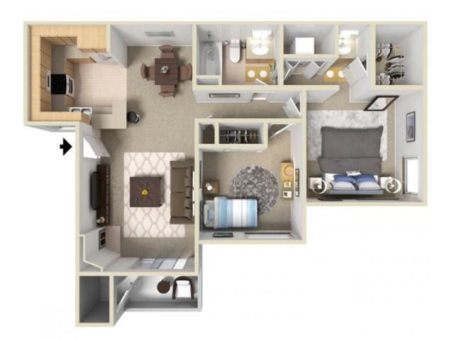 2 Bedrooms 1 Bathroom Apartment for rent at Autumn Ridge in Citrus Heights, CA
