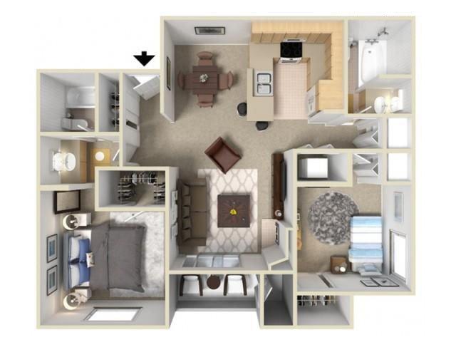 2 Bedrooms 2 Bathrooms Apartment for rent at Autumn Ridge in Citrus Heights, CA