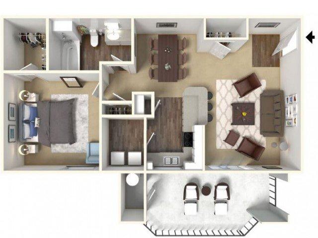 1 Bedroom 1 Bathroom Apartment for rent at Cobble Oaks Apartments in Gold River, CA