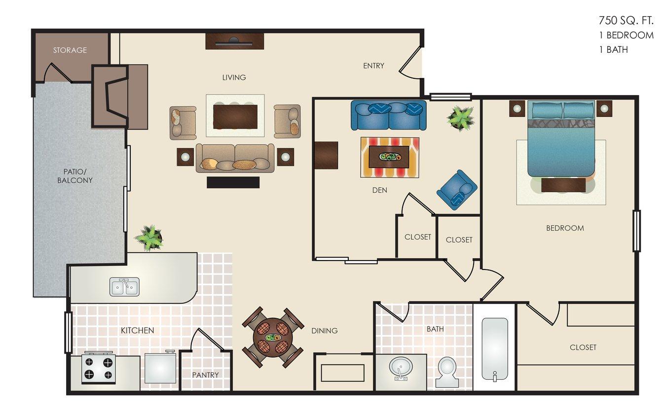 1 Bedroom 1 Bathroom Apartment for rent at Altitude in San Antonio, TX