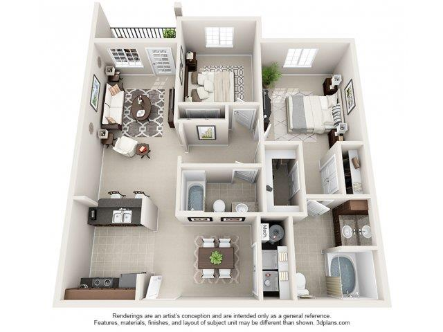 2 Bedrooms 2 Bathrooms Apartment for rent at Kilnsea Village Apartments in Summerville, SC