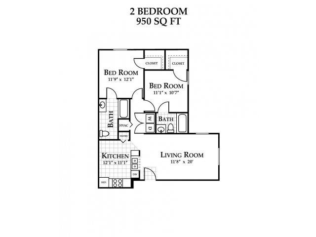 2 Bedrooms 2 Bathrooms Apartment for rent at Featherstone Village Apartments in Durham, NC