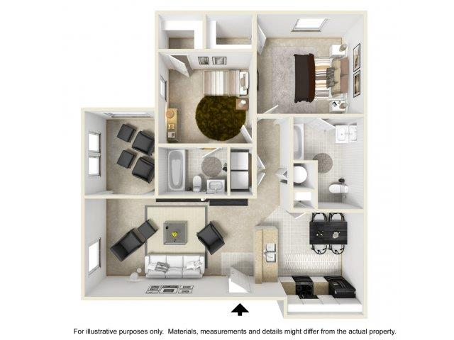 2 Bedrooms 2 Bathrooms Apartment for rent at Cobblestone Village Apartments in Summerville, SC