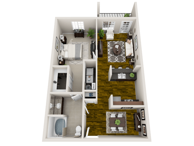 1 Bedroom 1 Bathroom Apartment for rent at Maystone At Wakefield in Raleigh, NC