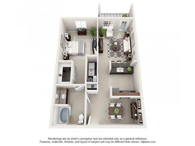 1 Bedroom 1 Bathroom Apartment for rent at Adeline At White Oak in Garner, NC