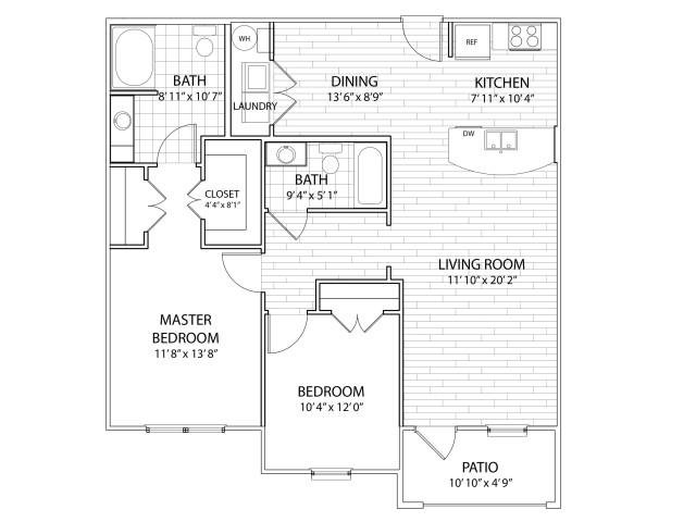 2 Bedrooms 2 Bathrooms Apartment for rent at Arrington Ridge in Round Rock, TX