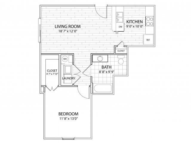 1 Bedroom 1 Bathroom Apartment for rent at Arrington Ridge in Round Rock, TX