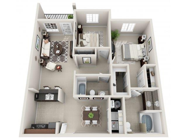 2 Bedrooms 2 Bathrooms Apartment for rent at Village At Town Center in Raleigh, NC