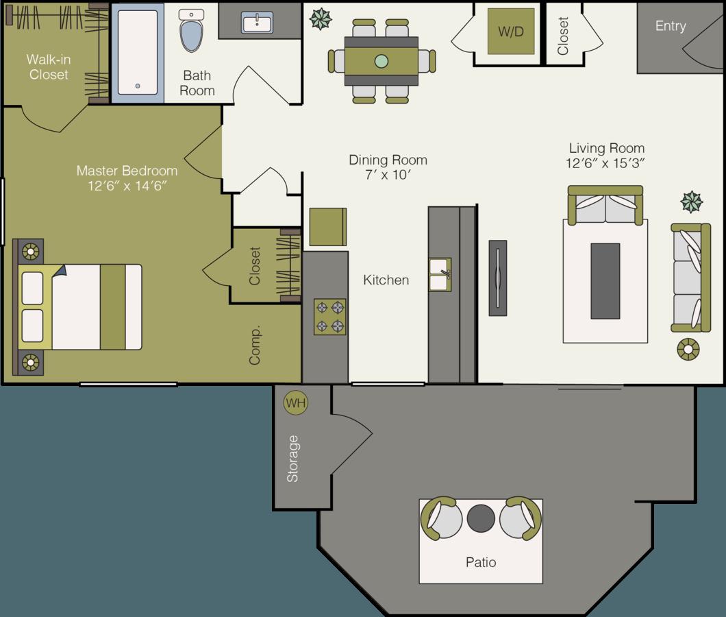 1 Bedroom 1 Bathroom Apartment for rent at Sonoma Ridge Apartments in Peoria, AZ