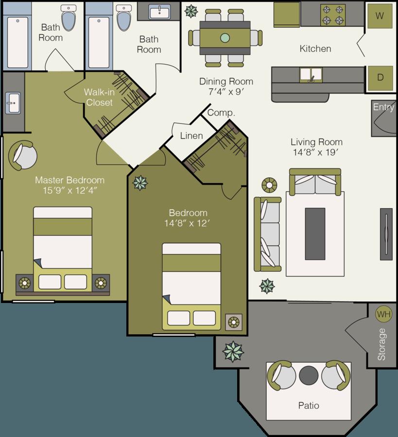 2 Bedrooms 2 Bathrooms Apartment for rent at Sonoma Ridge Apartments in Peoria, AZ