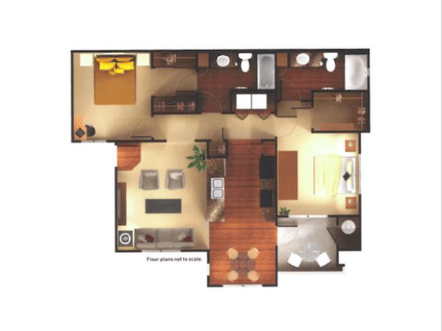 2 Bedrooms 2 Bathrooms Apartment for rent at Aria On Cave Creek Apartments in Phoenix, AZ