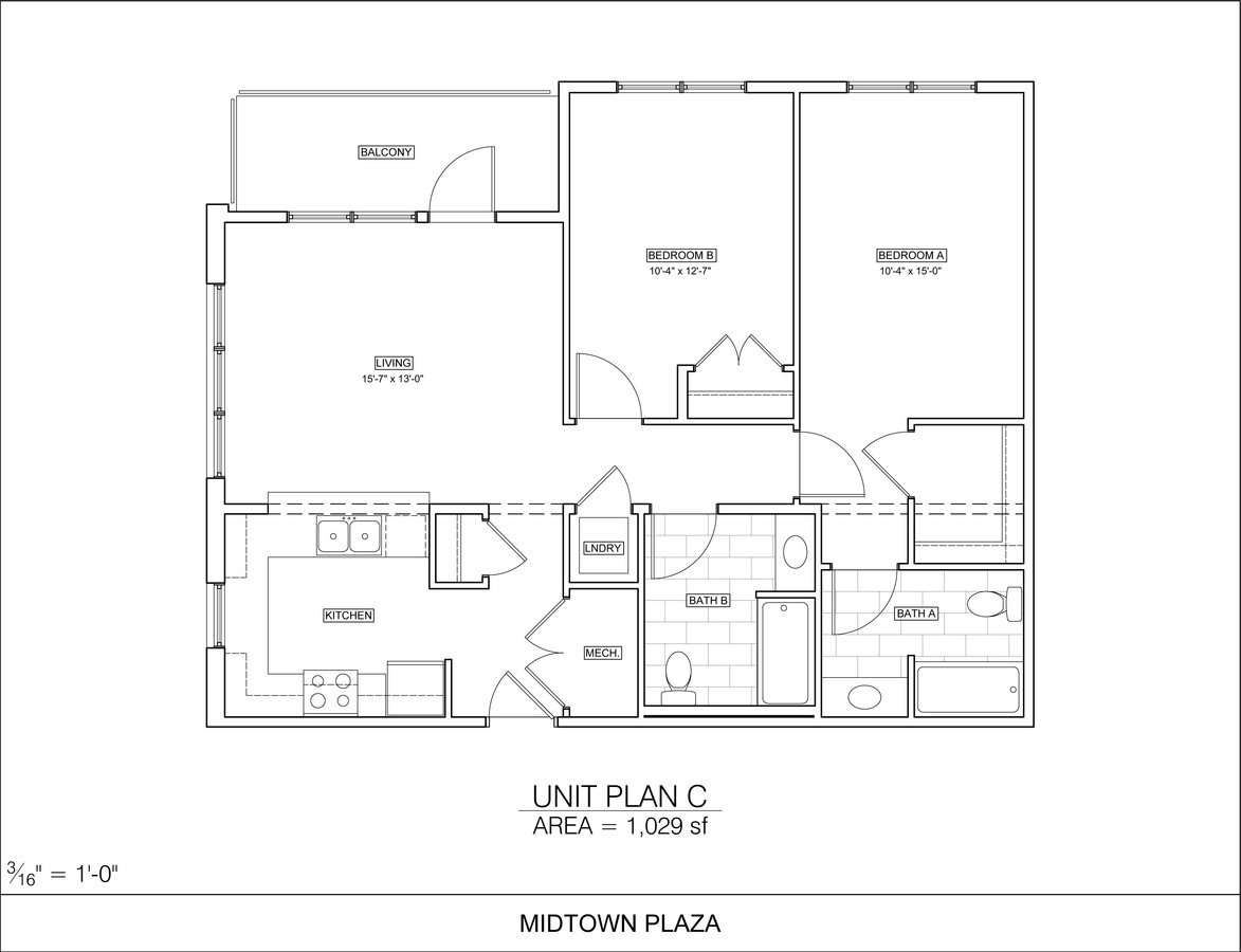2 Bedrooms 2 Bathrooms Apartment for rent at Midtown Plaza in Champaign, IL