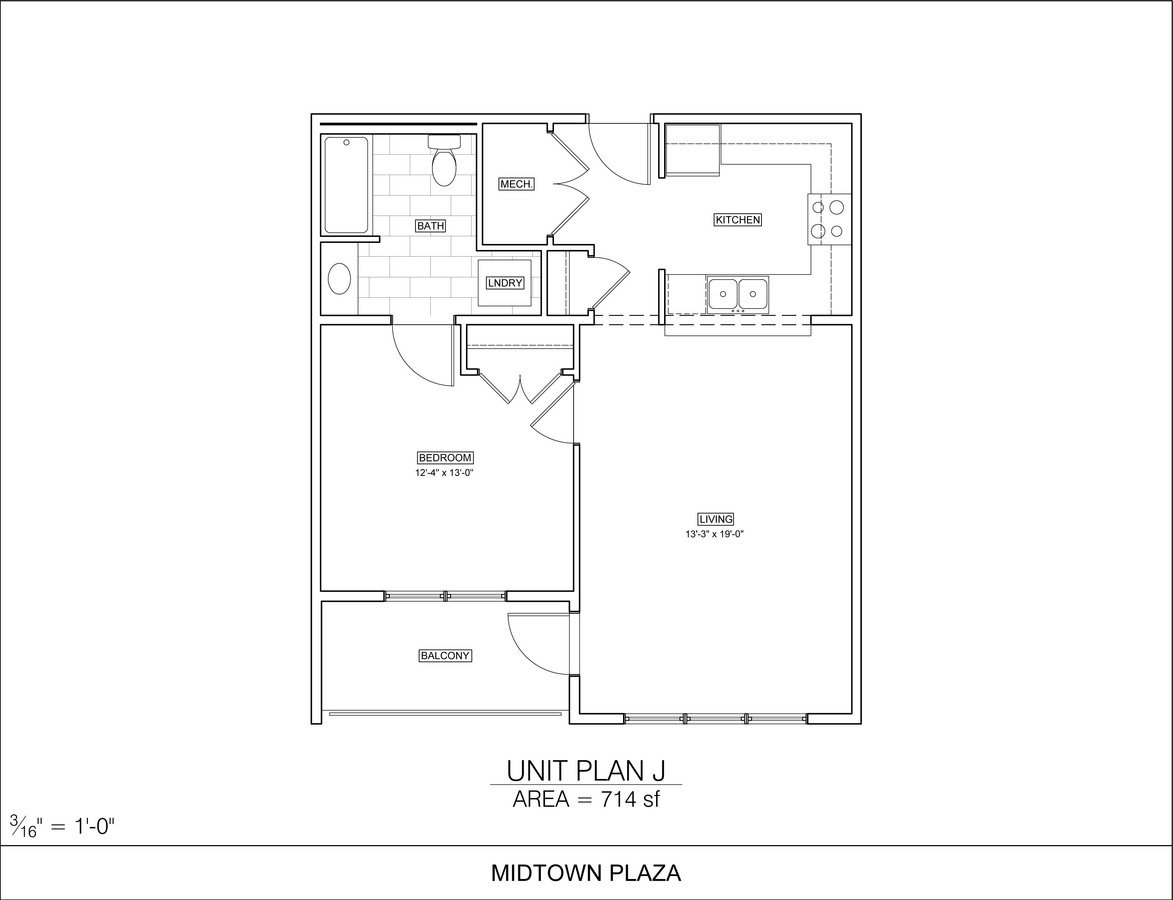 1 Bedroom 1 Bathroom Apartment for rent at Midtown Plaza in Champaign, IL