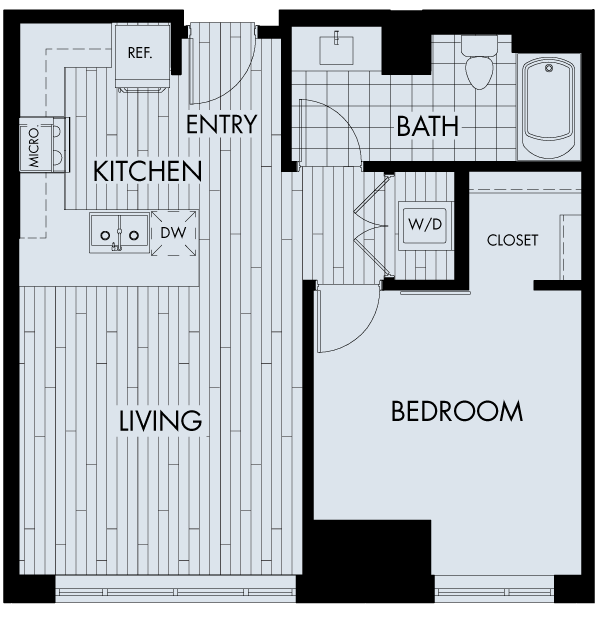 1 Bedroom 1 Bathroom Apartment for rent at The Quincy in Denver, CO