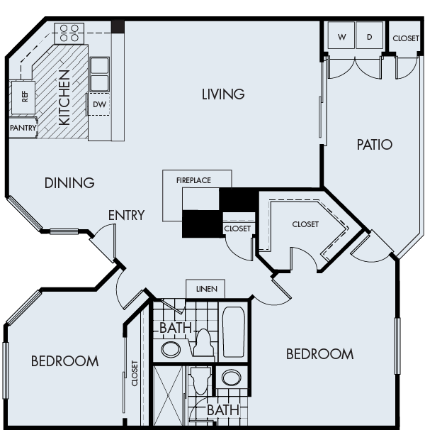 2 Bedrooms 2 Bathrooms Apartment for rent at Valentia in San Diego, CA