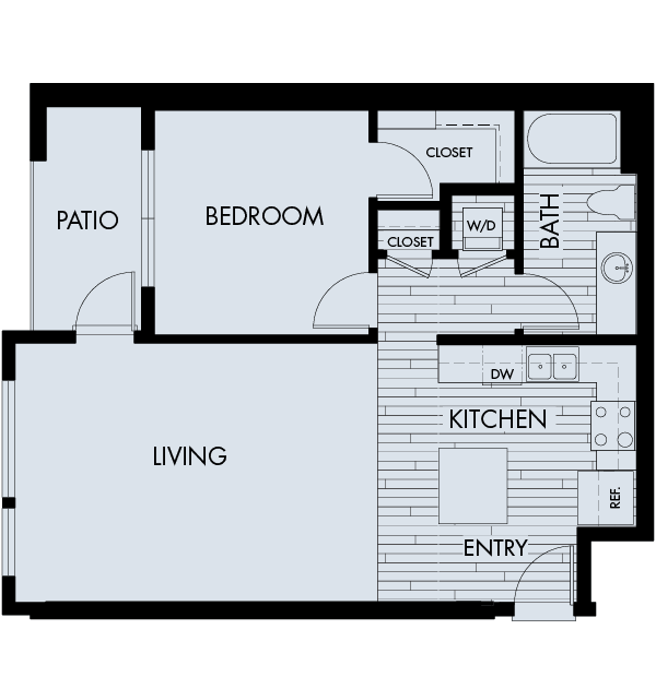 1 Bedroom 1 Bathroom Apartment for rent at Vela Meridian in Parker, CO