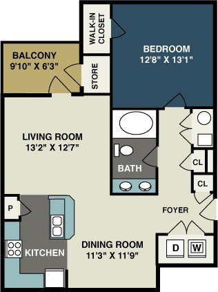 1 Bedroom 1 Bathroom Apartment for rent at Amelia Station in Clayton, NC